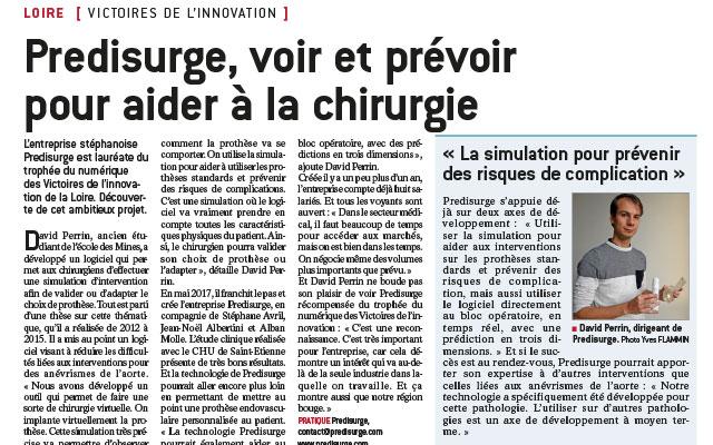 """[FR] """"PrediSurge, voir et prévoir pour aider à la chirurgie"""" – Le Progrès"""